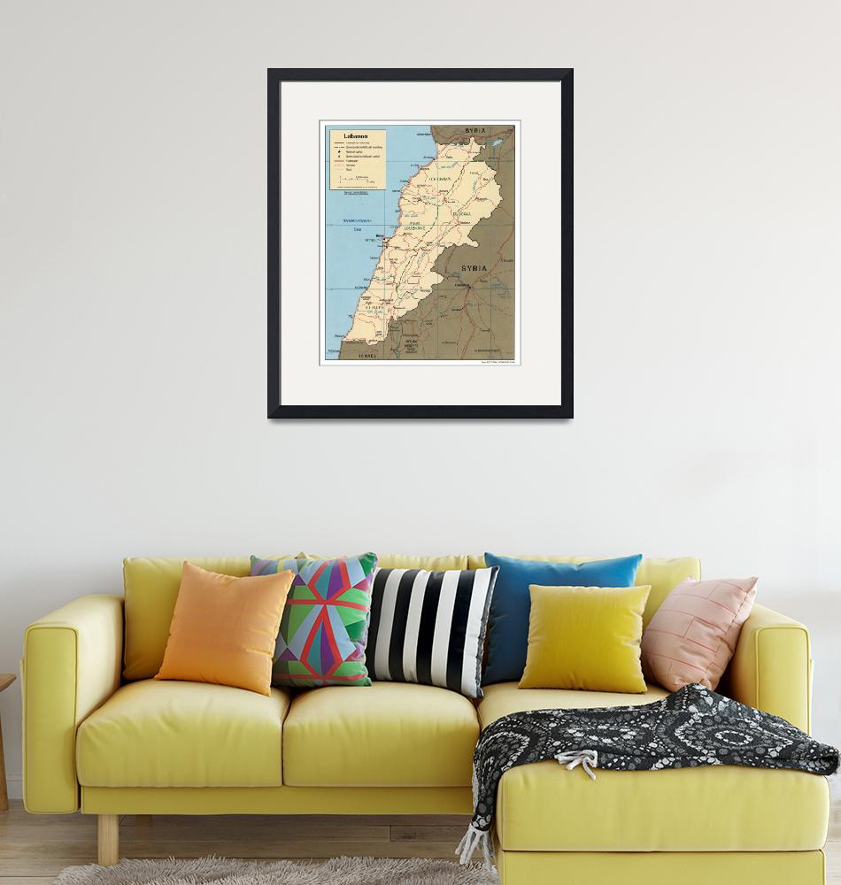 """""""Map of Lebanon (2000)""""  by Alleycatshirts"""