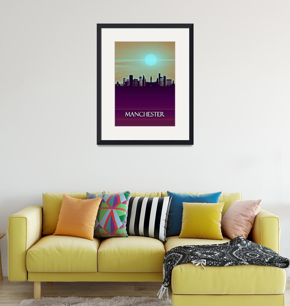 """""""Manchester City Skyline""""  by Towseef"""
