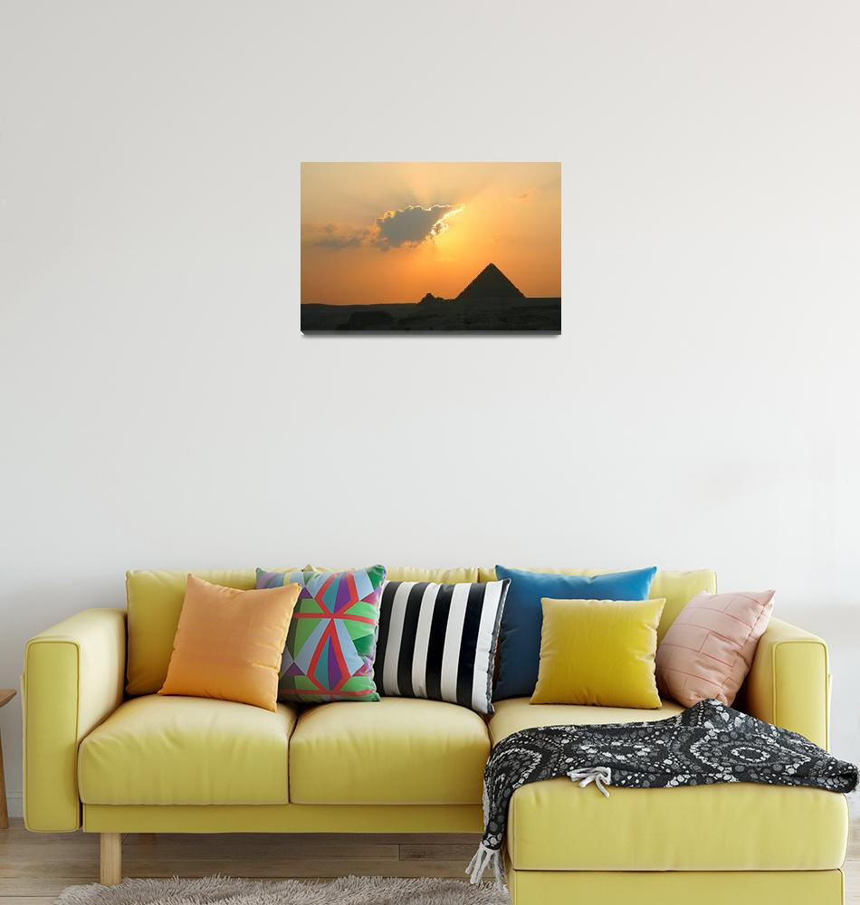 """Egyptian Sunset Behind Cloud""  (2008) by DonnaCorless"