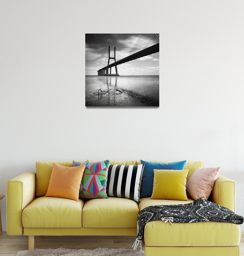 """Vasco da Gama Bridge #02""  (2012) by sensorfleck"