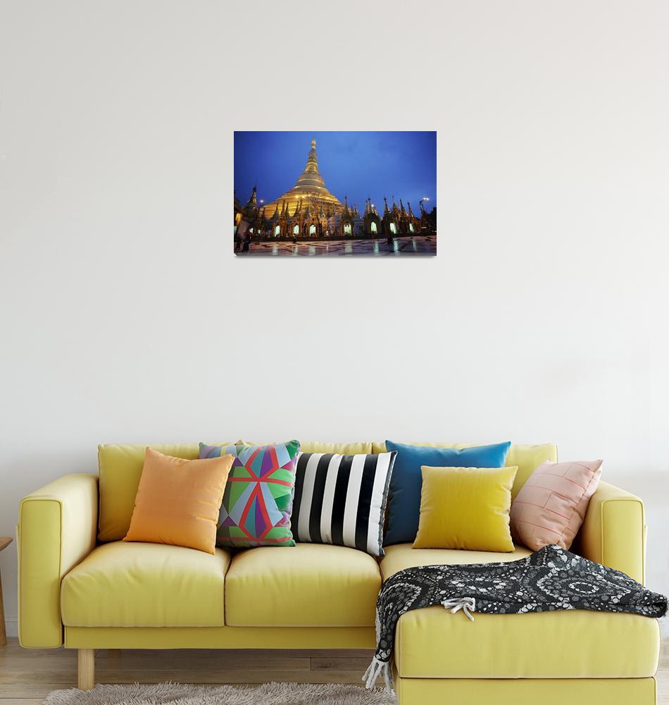 """Shwegadon Pagoda Rangoon Burma, Myanmar""  by DesignPics"