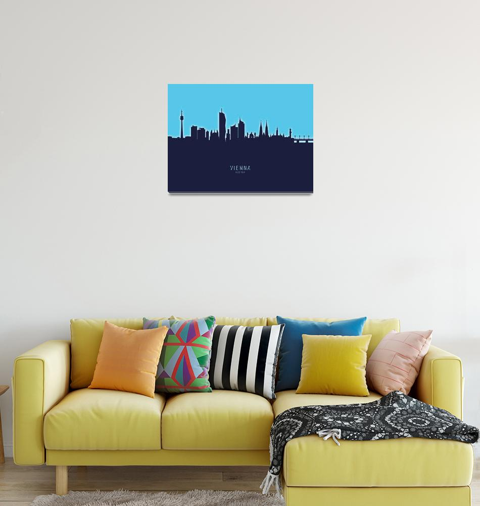 """""""Vienna Austria Skyline""""  (2020) by ModernArtPrints"""