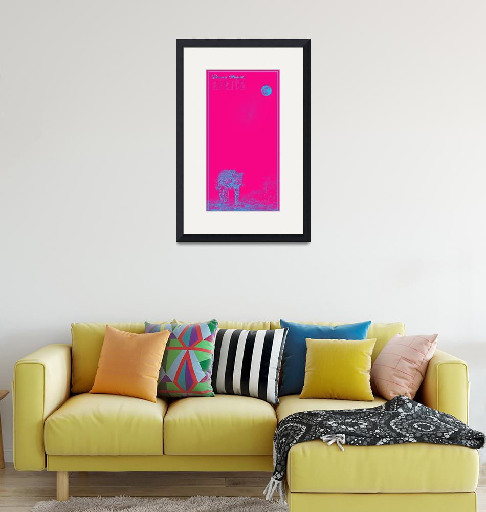 """Africa Travel Poster in pink""  by motionage"