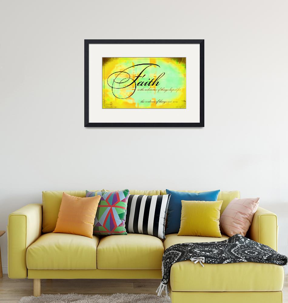 """""""faith is texture yellow""""  by lizmix"""