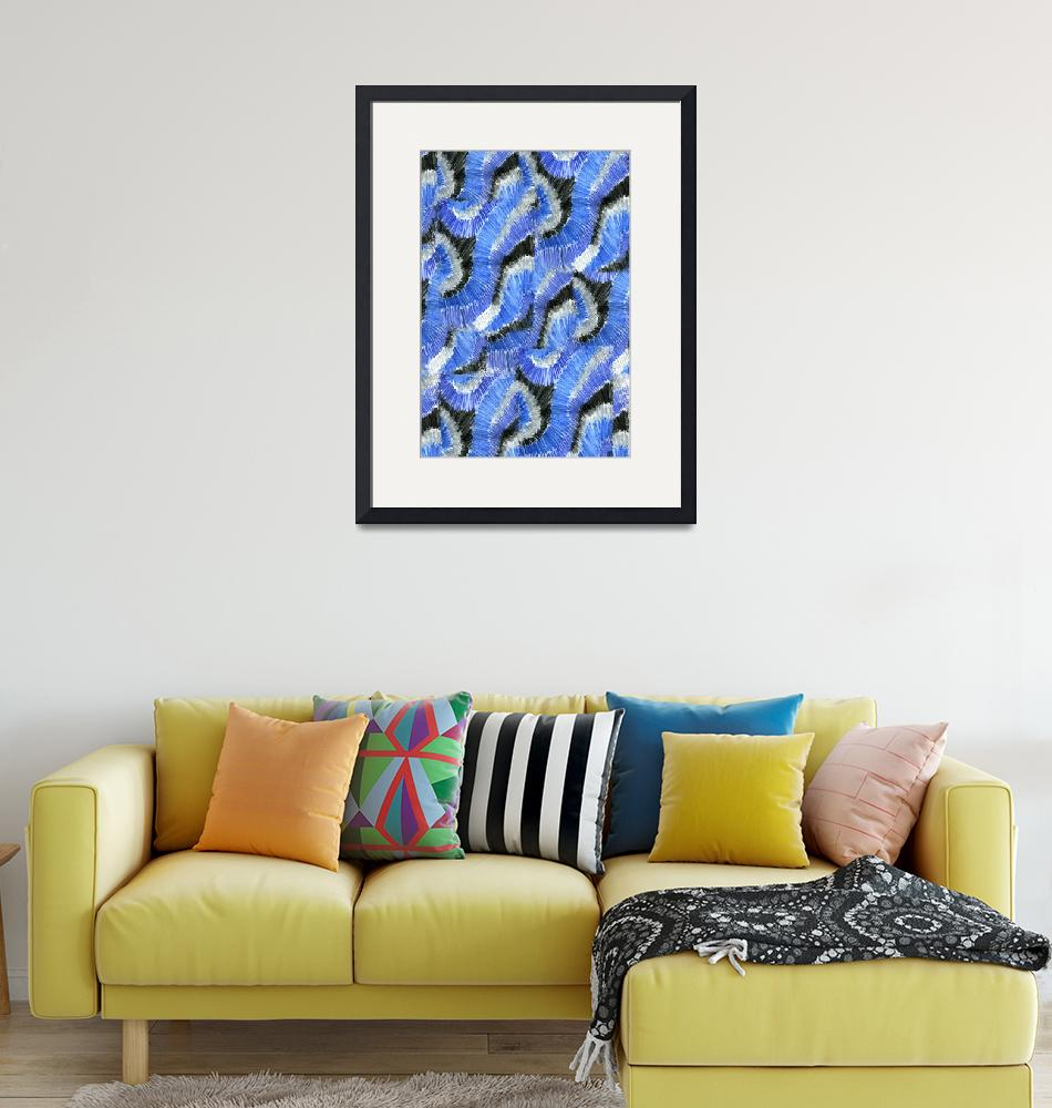 """""""blue pencil""""  (2012) by NickBiscardiArt"""