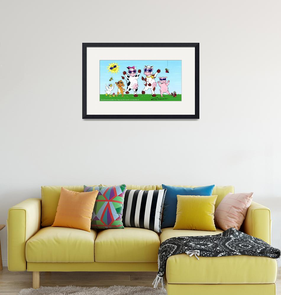 """Happy Cows Party"" (2012) by BarbaraPelizzoli"