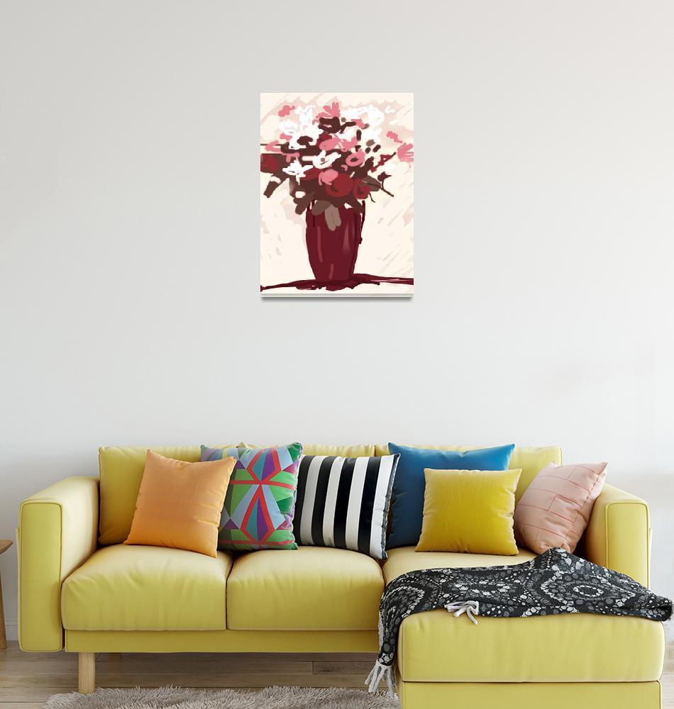 """Flowers in Vase""  (2011) by nsilcock"