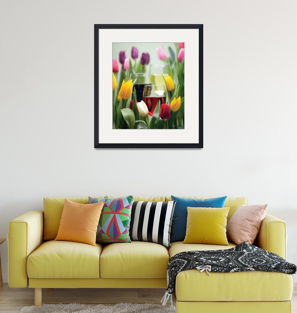 """Tulips and Wine""  by winecountrycreations"