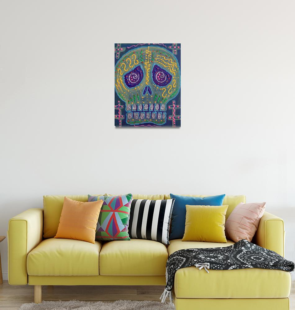 """Great Electric Skull""  (2013) by ArtPrints"