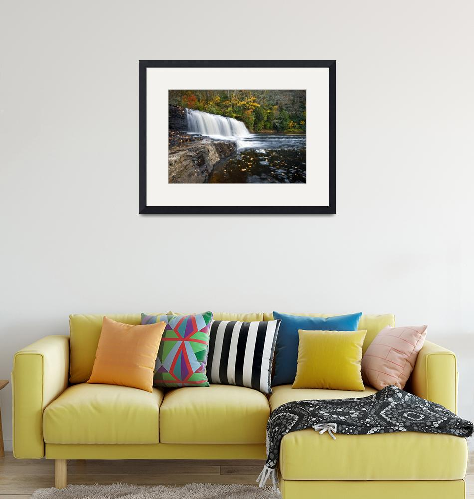 """""""Hooker Falls in Autumn - Fall Foliage in Dupont St""""  (2011) by DAPhoto"""