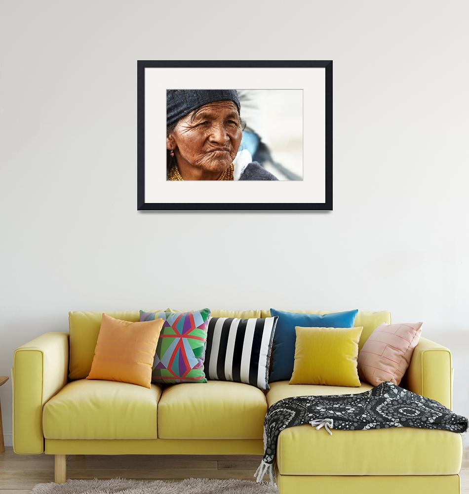 """Native Woman at the Otevalo Market - Ecuador""  (2009) by BrianLewis"