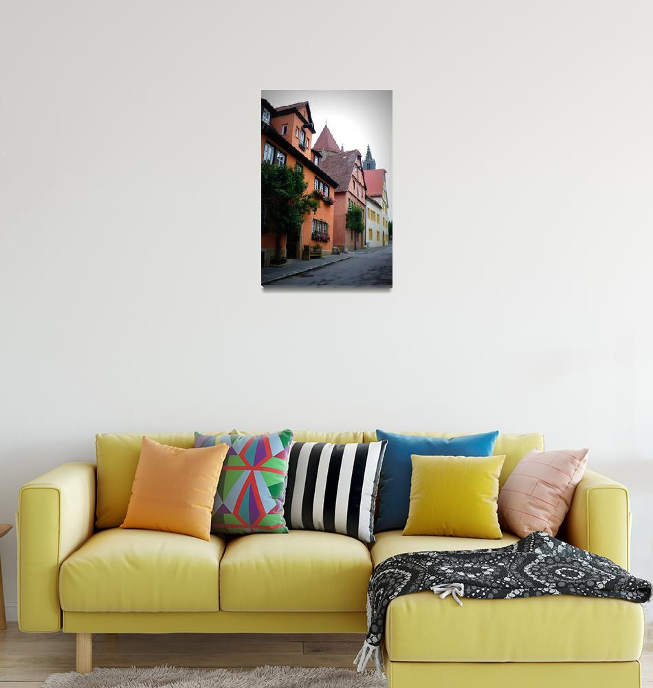 """Rothenburg Houses""  (2008) by Groecar"
