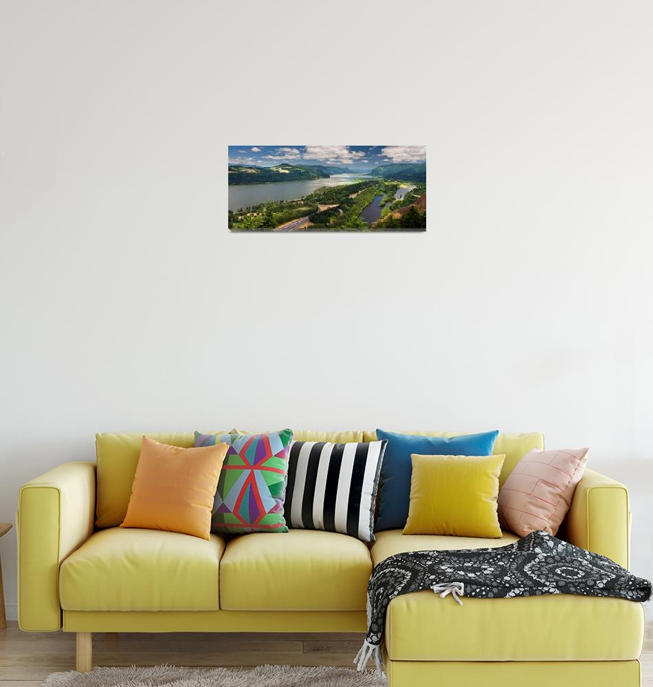"""""""COLUMBIA RIVER GORGE PANORAMA""""  (2011) by pbk"""