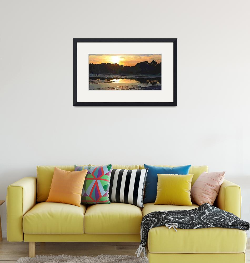 """""""Sunset over La Hume Harbour""""  (2012) by Scolas"""