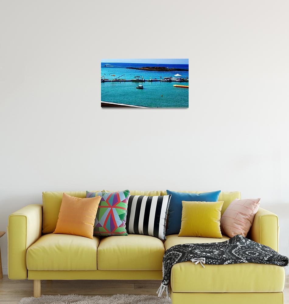 """Fig Tree Bay Leisure Activities, Cyprus""  by Artsart"