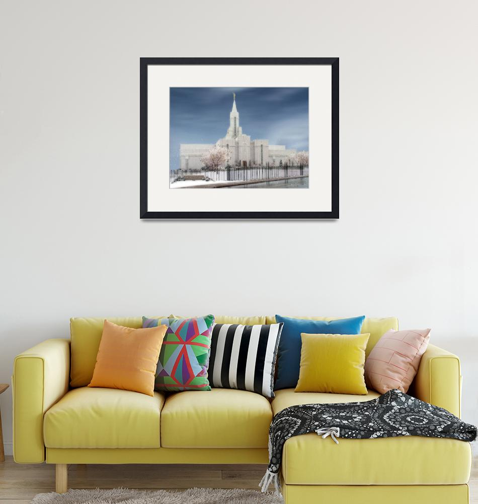 """""""LDS Temples / Bountiful Temple / Winter""""  by TerrySpringer"""