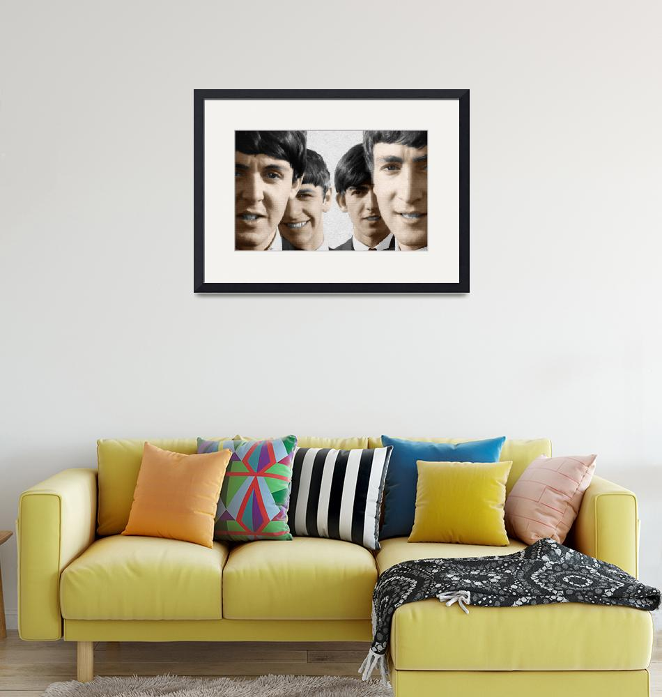 """""""The Beatles Painting 1963 Color""""  by RubinoFineArt"""