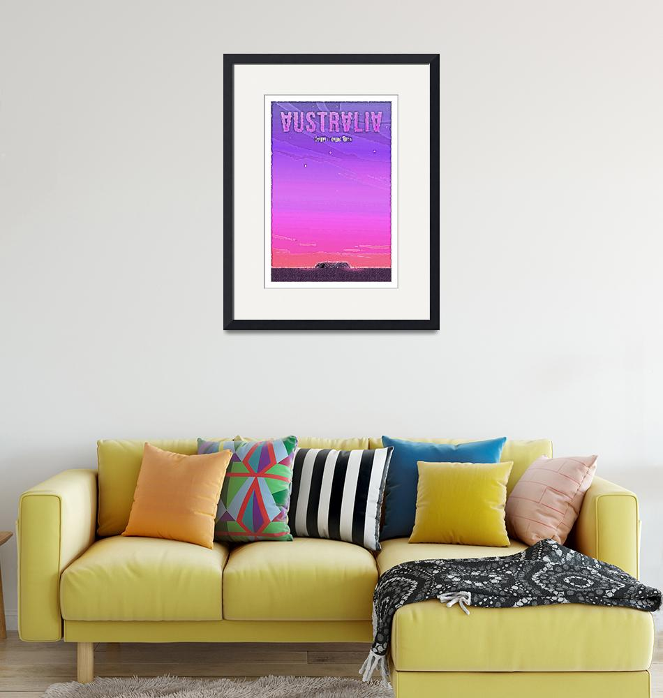 """""""Travel Poster of Australia 2 49"""" by Arpina"""