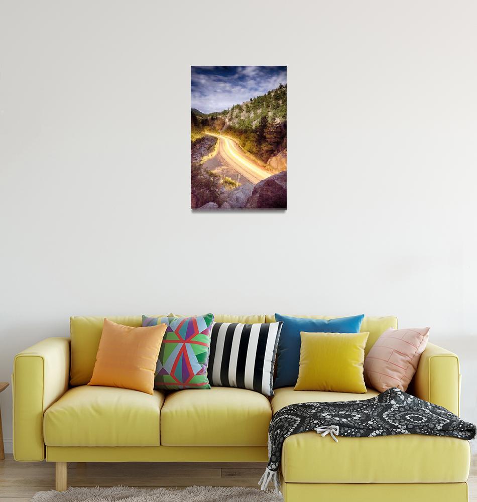 """Boulder Canyon Beams Of Light""  (2013) by lightningman"
