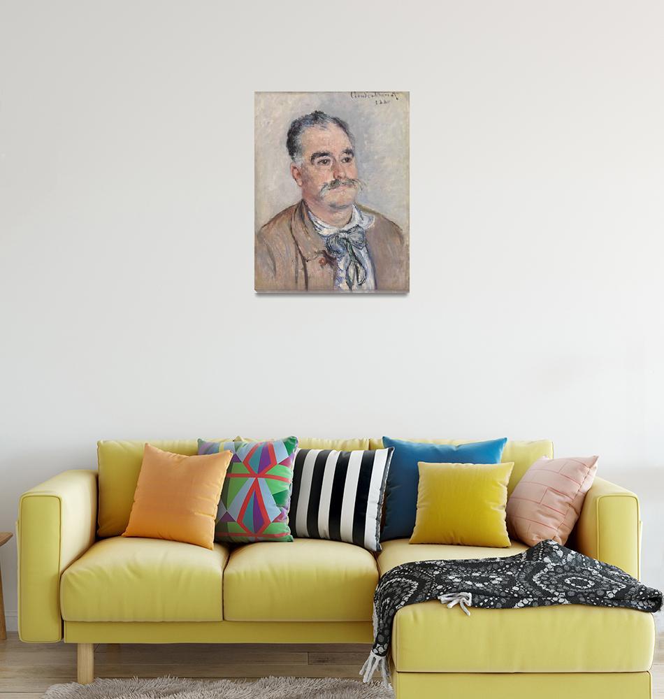 """Portrait of Monsieur Coquette, Father by Monet""  by FineArtClassics"