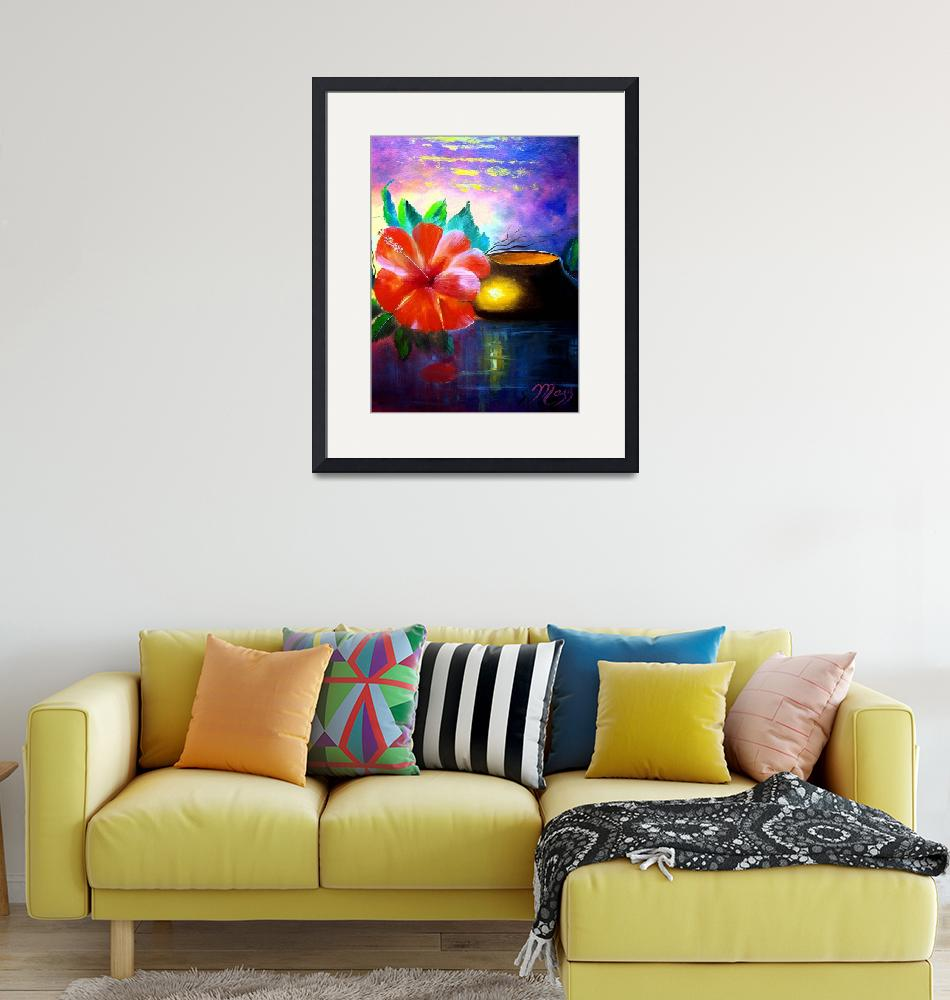 """""""Hibiscus Flower Painting""""  (2009) by mazz"""