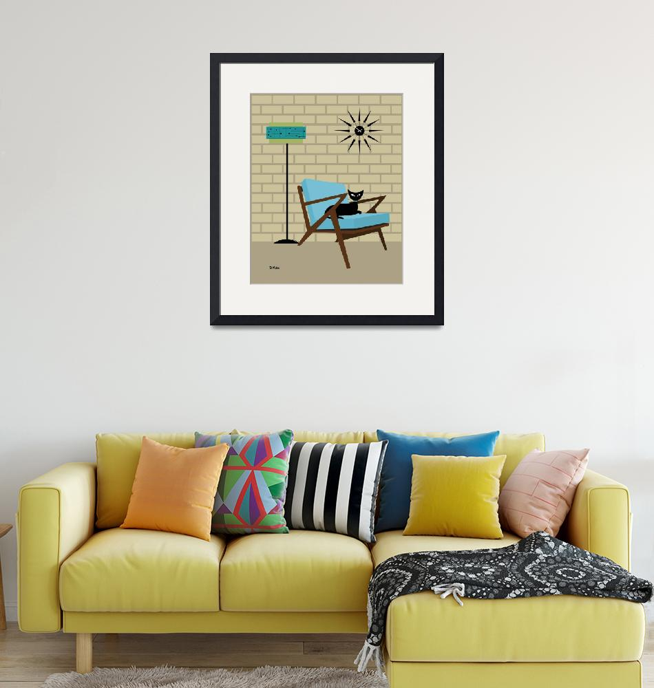 """""""Mid Century Modern Room with Z Chair""""  (2020) by DMibus"""
