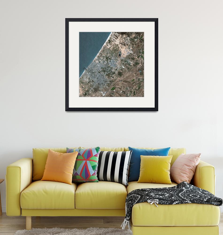 """Gaza (Palestinian Territory) : Satellite Image""  (2006) by astriumgeo"