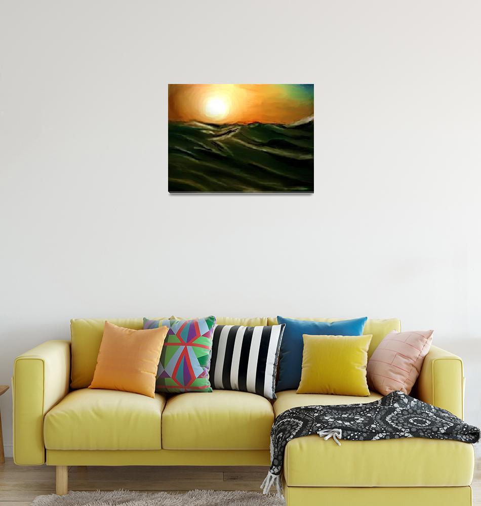 """Desert Sunset""  (2011) by WandaFitzgerald"