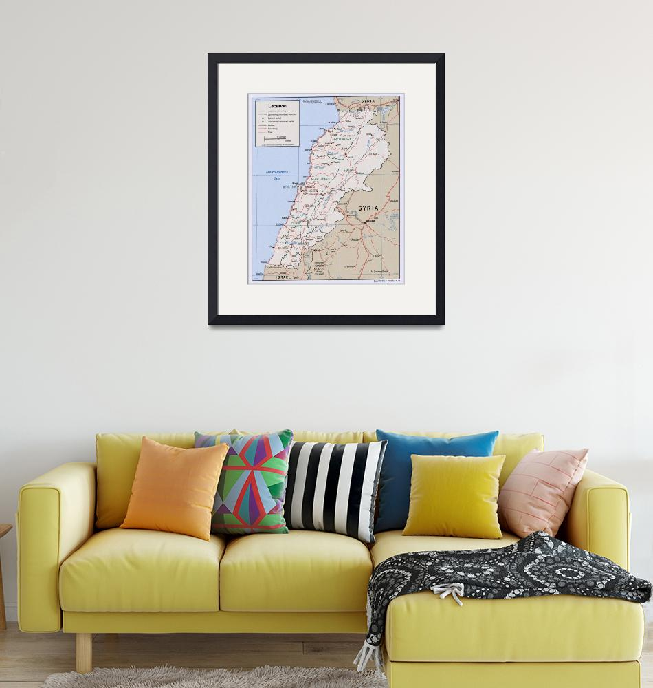 """Map of Lebanon (2002)""  by Alleycatshirts"