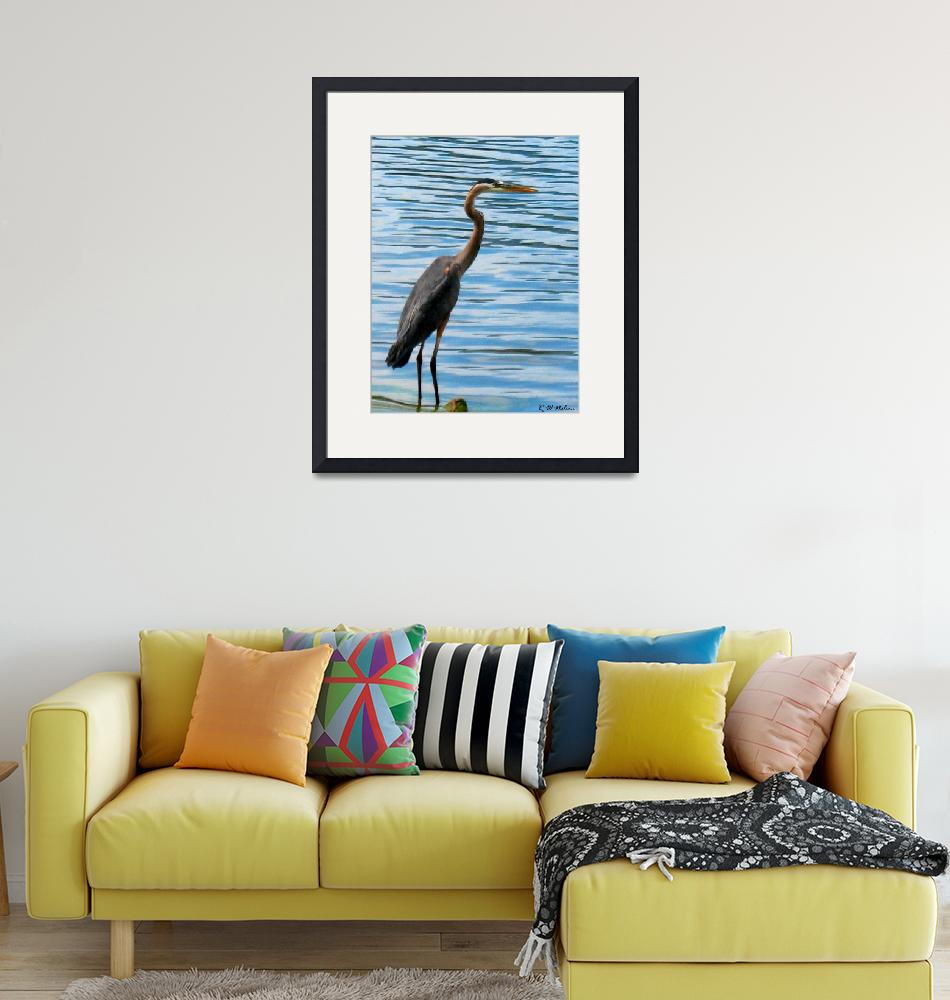 """Great Blue Heron""  (2012) by ralphnelsen"