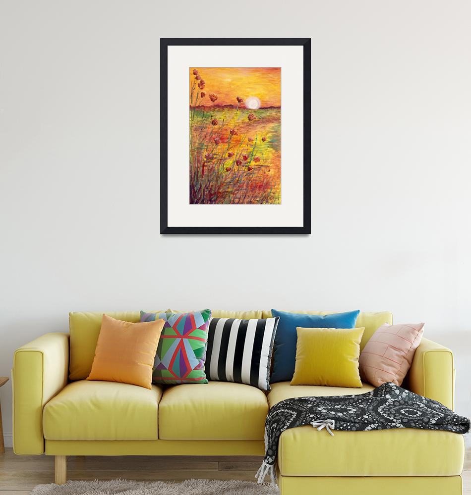 """""""Sunset and Poppies""""  (2013) by nadinerippelmeyer"""