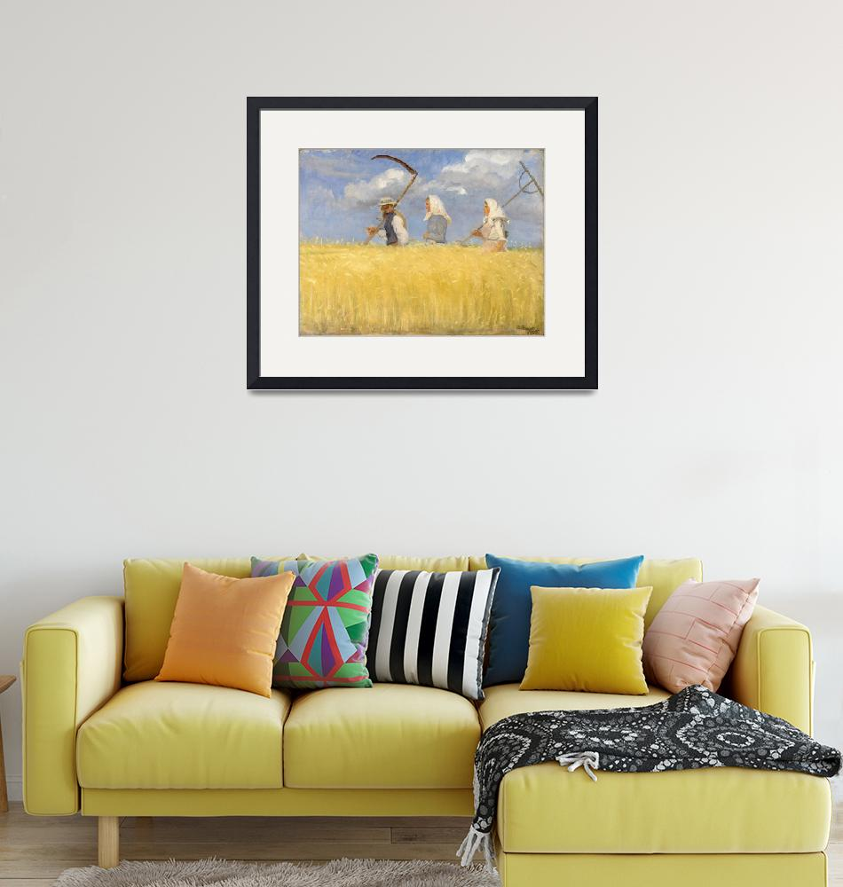 """""""Harvesters, by Anna Ancher""""  by artisticrifki"""