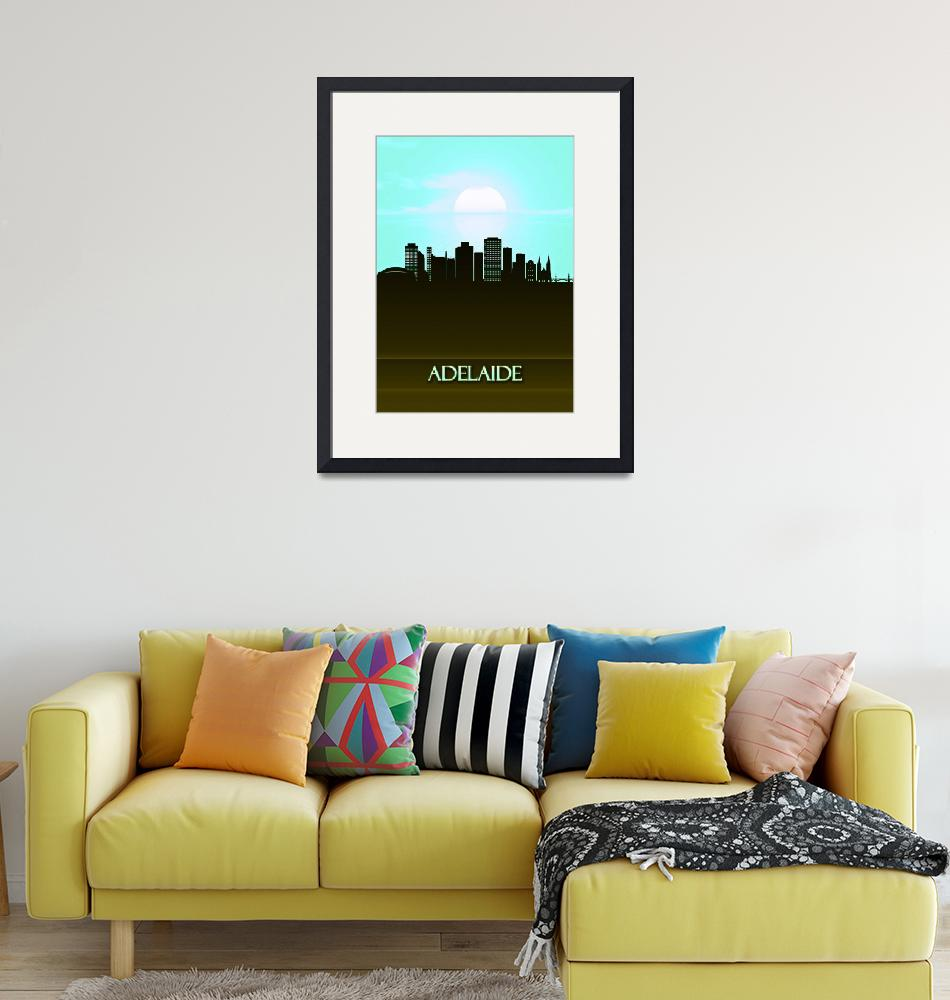 """""""Adelaide City Skyline""""  by Towseef"""