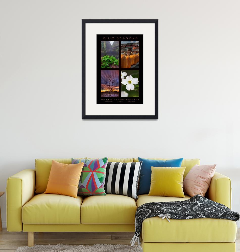 """""""Ohio Seasons Four Image Poster Print""""  (2009) by jimcrotty"""