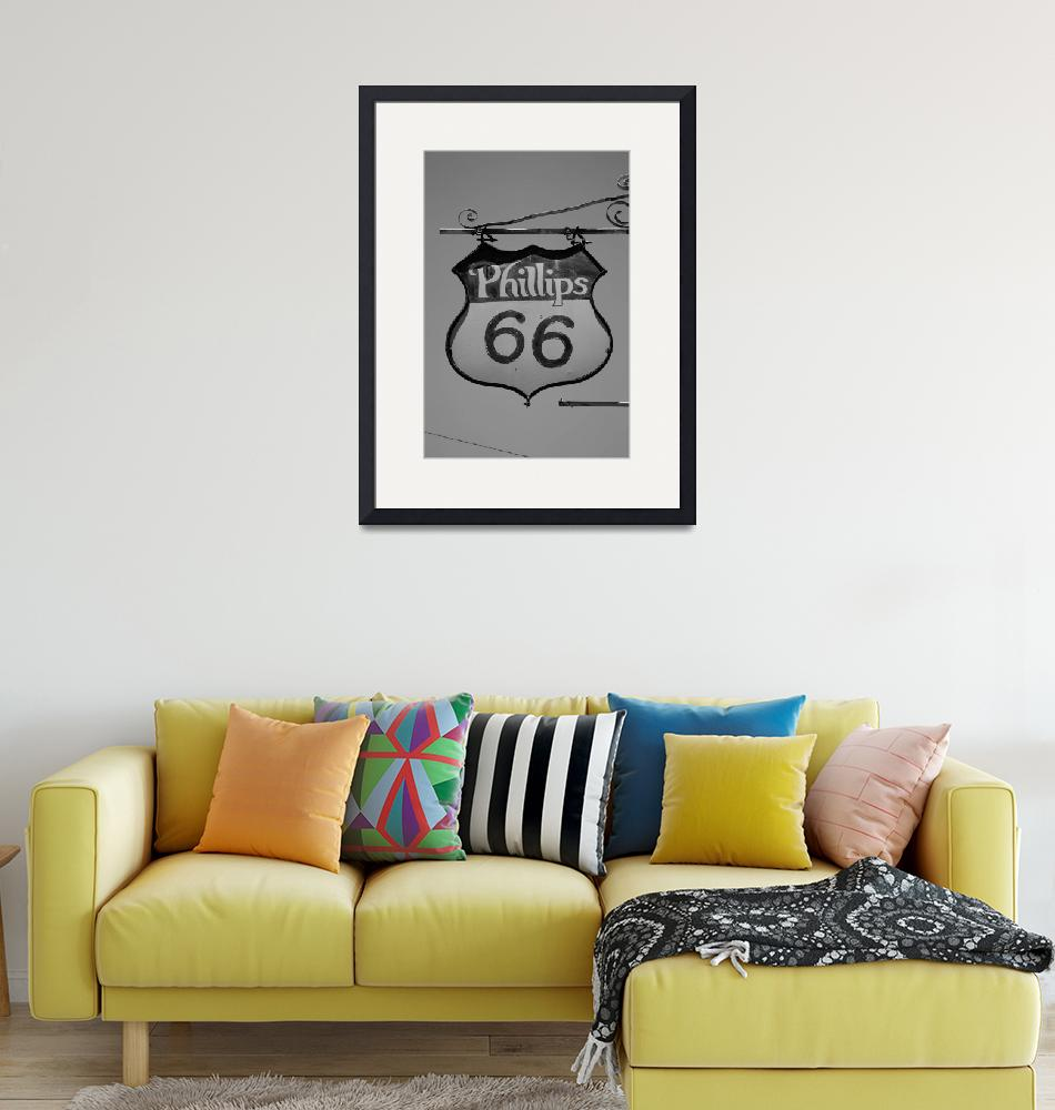 """Route 66 - Phillips 66 Petroleum""  (2012) by Ffooter"