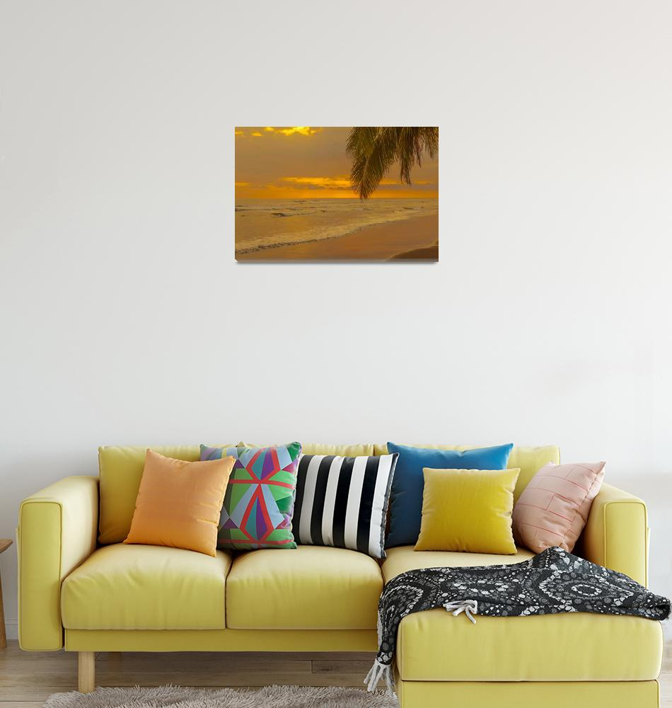 """""""sunset on a tropical beach""""  (2013) by puravidaviews"""