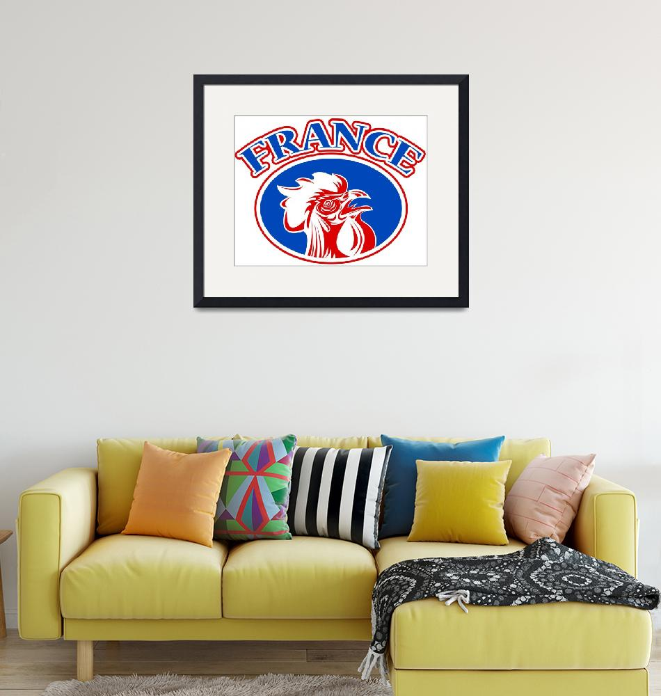 """""""rugby rooster mascot france""""  (2013) by patrimonio"""