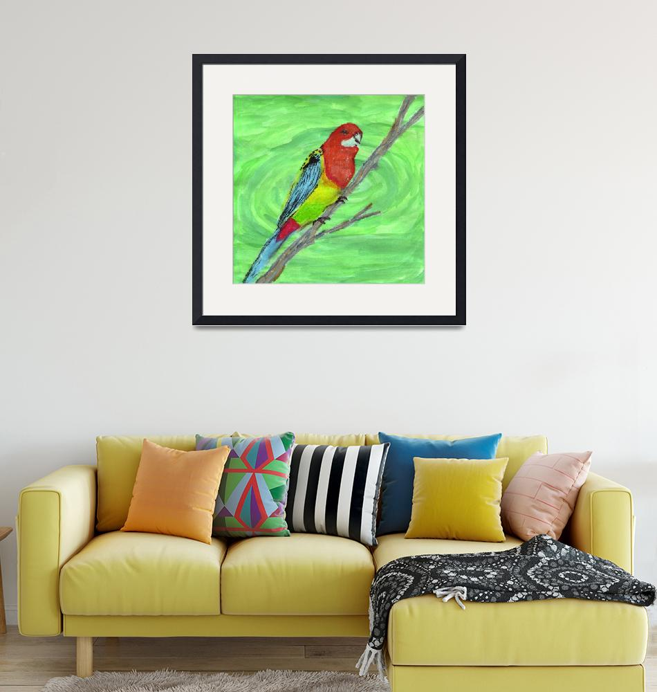"""Eastern Rosella""  (2008) by mistypoe"