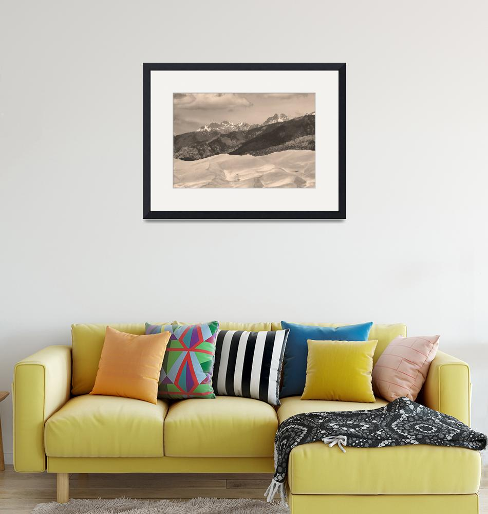 """The Great Sand Dunes Sepia Print 45""  (2010) by lightningman"