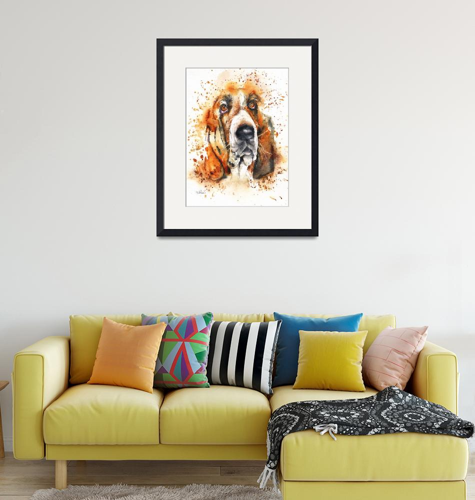 """Wet Basset""  (2019) by MightyFineArt"