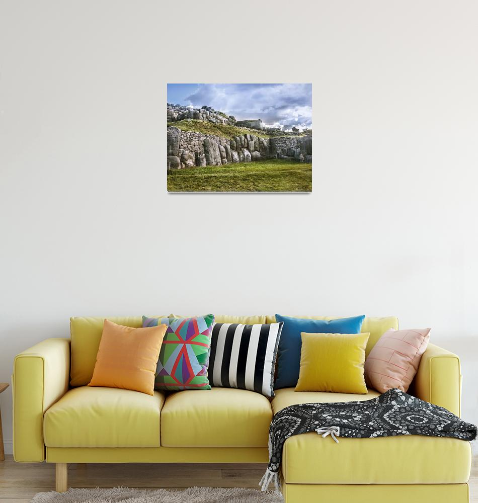 """Sacsayhuaman Inca Fortress, Cusco, Peru""  (2015) by danfleitesart"