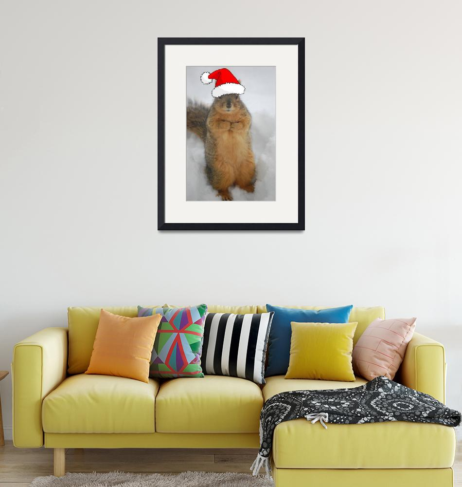 """""""Christmas Squirrel"""" (2011) by crazyabouthercats"""