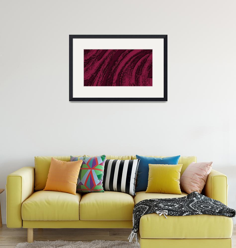 """""""Cranbery Burgundy Abstract""""  (2013) by TheNorthernTerritory"""