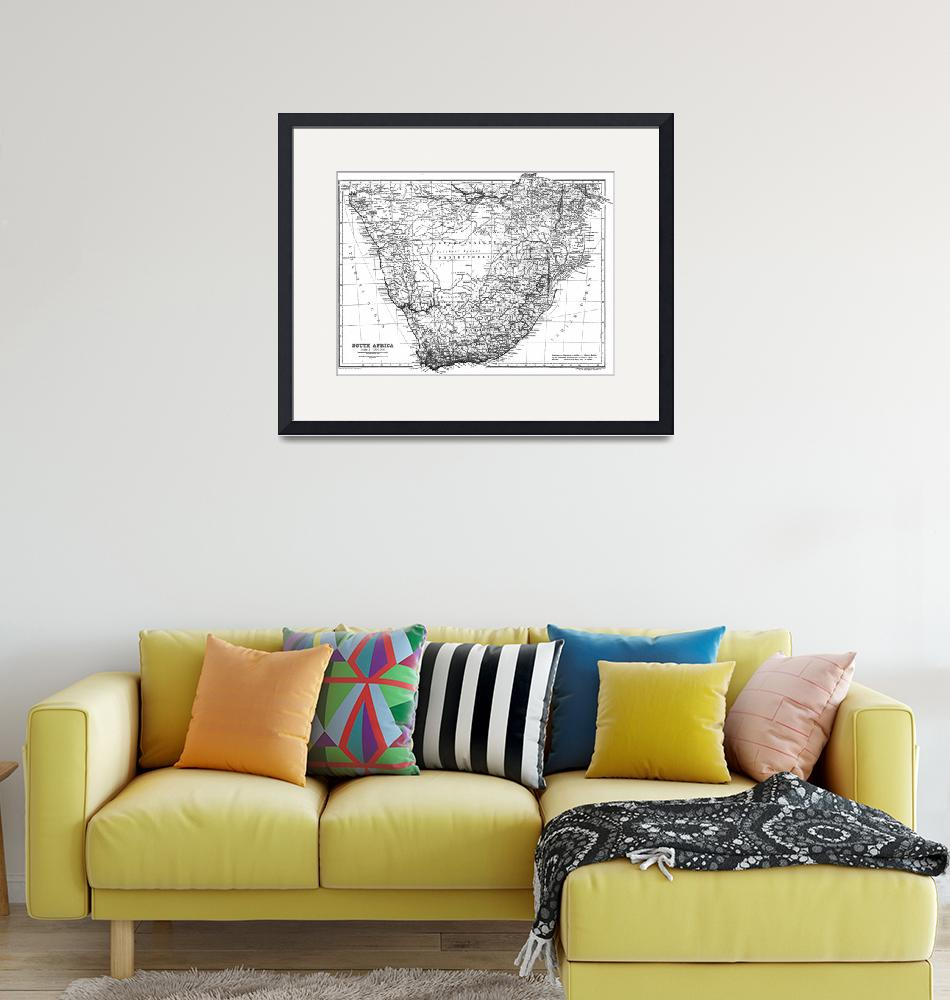"""""""Vintage Map of South Africa (1911)""""  by Alleycatshirts"""