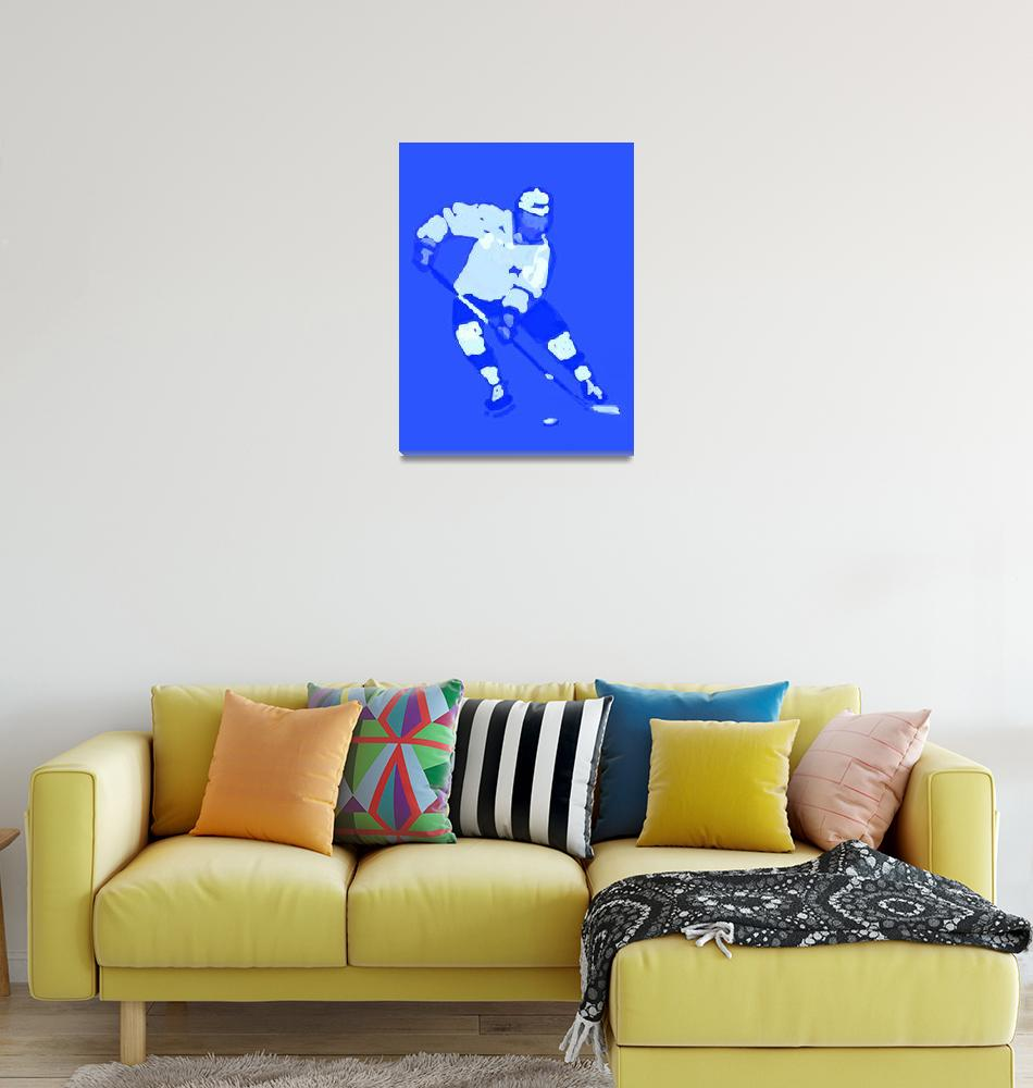 """""""Hockey Left Wing blue (c)""""  (2014) by edmarion"""