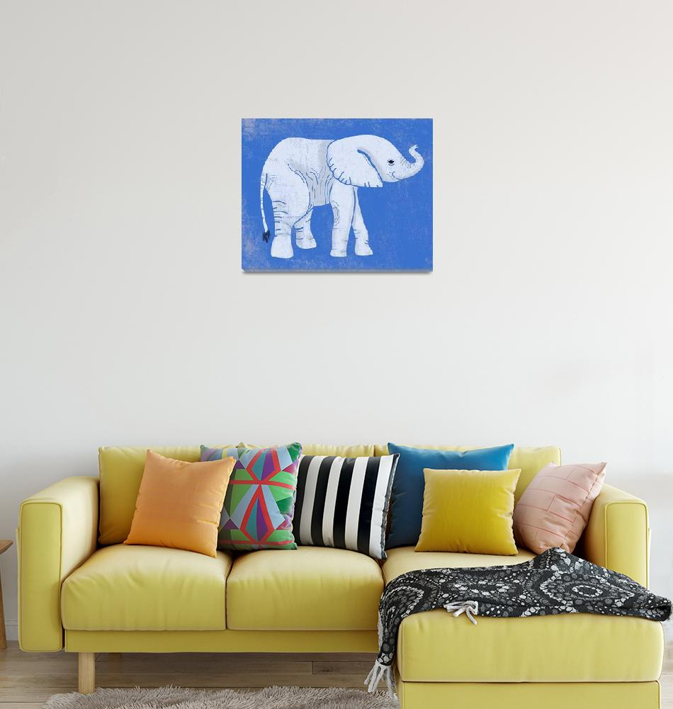 """Baby Elephant in Blue""  (2014) by Littlepig"