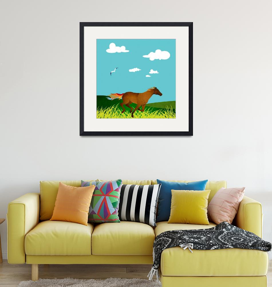 """""""galloping horse""""  by Design4uStudio"""