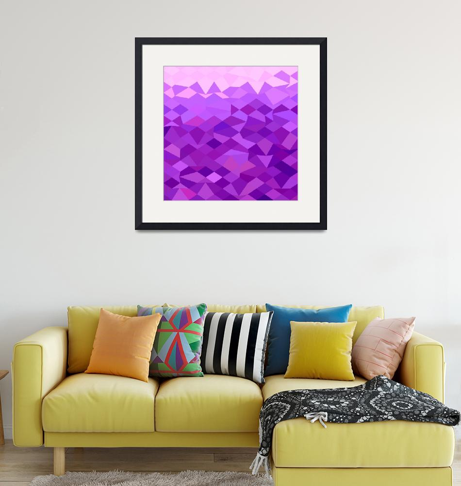 """""""Purple Abstract Low Polygon Background""""  (2015) by patrimonio"""