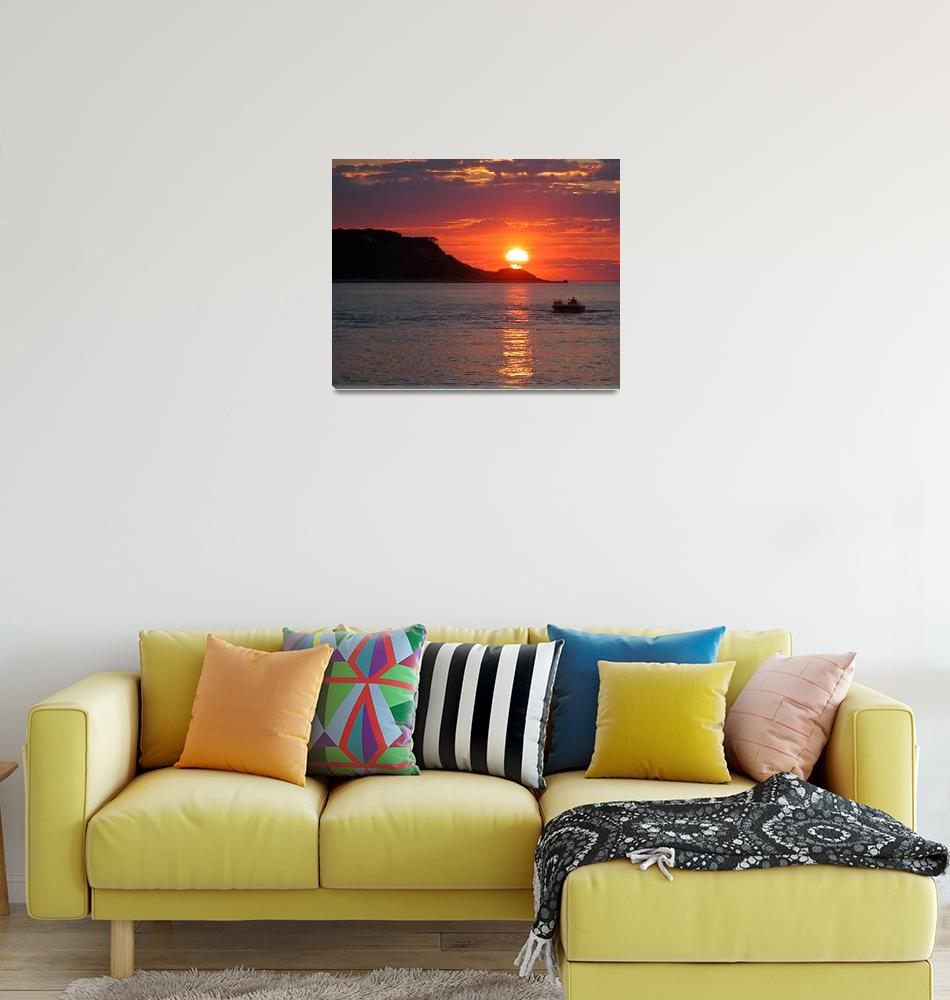 """""""Boating at Sunset in Mount Sinai Inlet""""  (2008) by goodeyephotographygallery"""