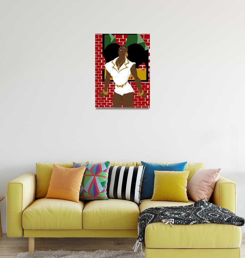 """Afro Puffs Pinups""  (2010) by Euvari"
